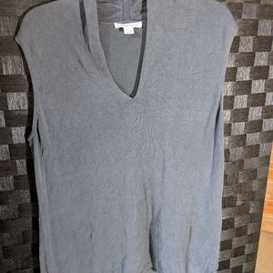 Coldwater Creek Women's Sleeveless Gray Sweater XL